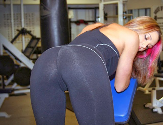 Busty Blond Babes In Yoga Pants (10 images)