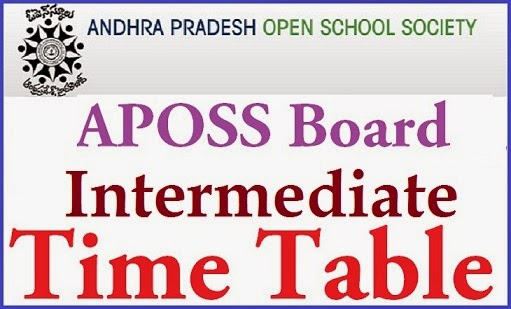 APOSS Inter Time Table 2015