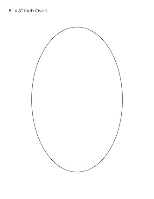 Shocking image for printable oval template