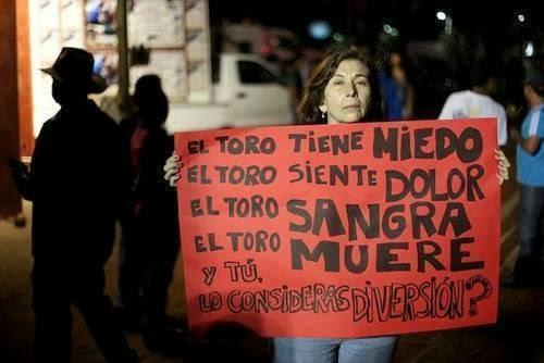 POR LA ABOLICIÓN A LAS CORRIDAS DE TOROS