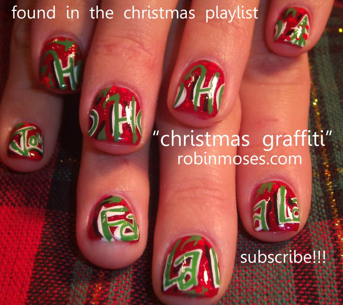 Holiday Nail Art Tutorials: Nail Art By Robin Moses: December 2012