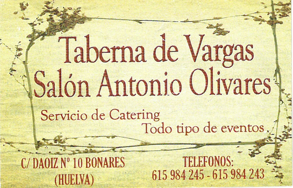TABERNA DE VARGAS-SALON ANTONIO OLIVARES