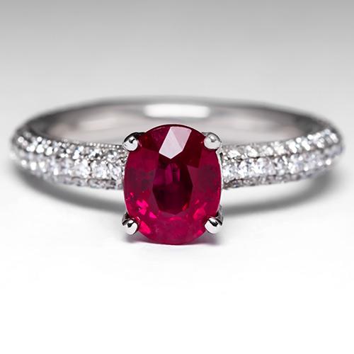 EraGem Blog Sapphire Ruby Engagement Rings Style Me Pretty