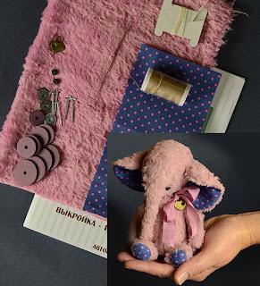 винтажный мишка,Гузель Костына,слоники, мишки тедди,сшить слоник,купить набор