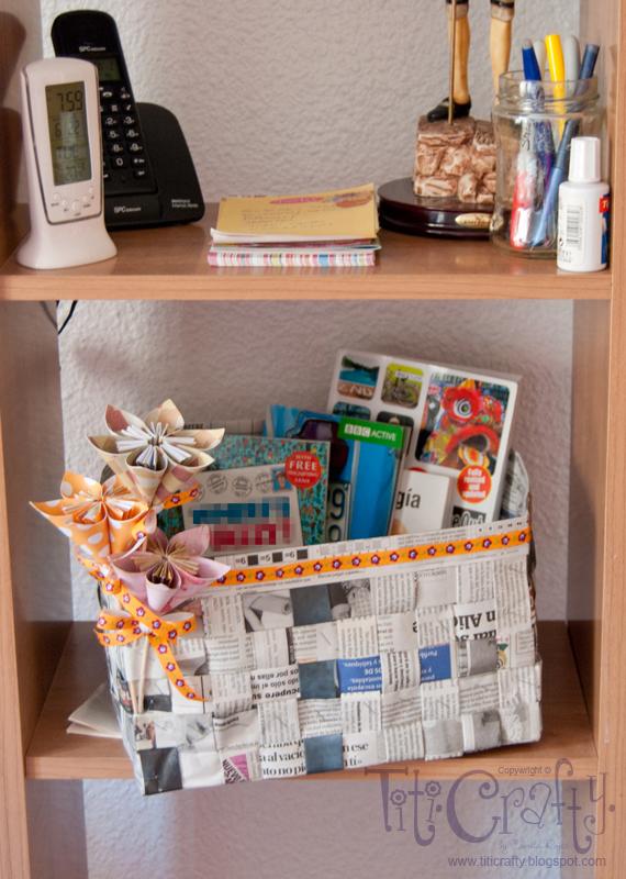 Cesta de papel peri dico titicrafty by camila - Cestas de papel periodico ...