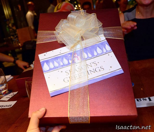 I even got my first Christmas present that night <3