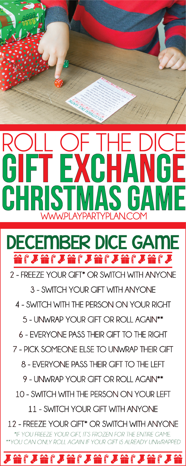 Witty image with christmas dice game printable
