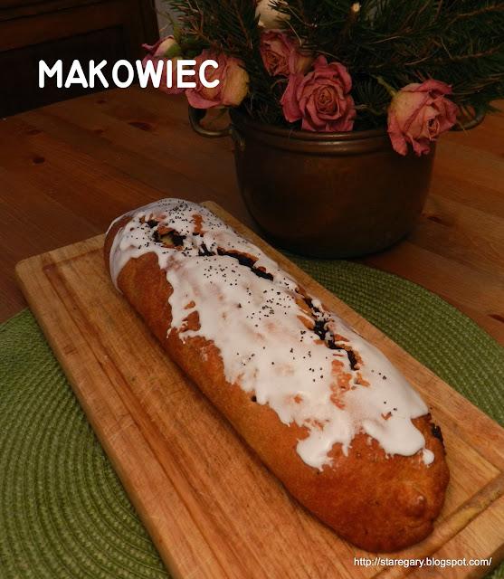 Makowiec - ciasto krucho - drożdżowe