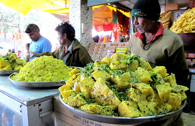 Khaman dhokla Street food from Gujarat