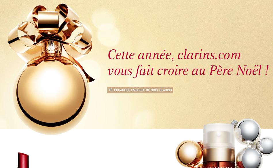 cadeaux de Noël, e-shop Clarins