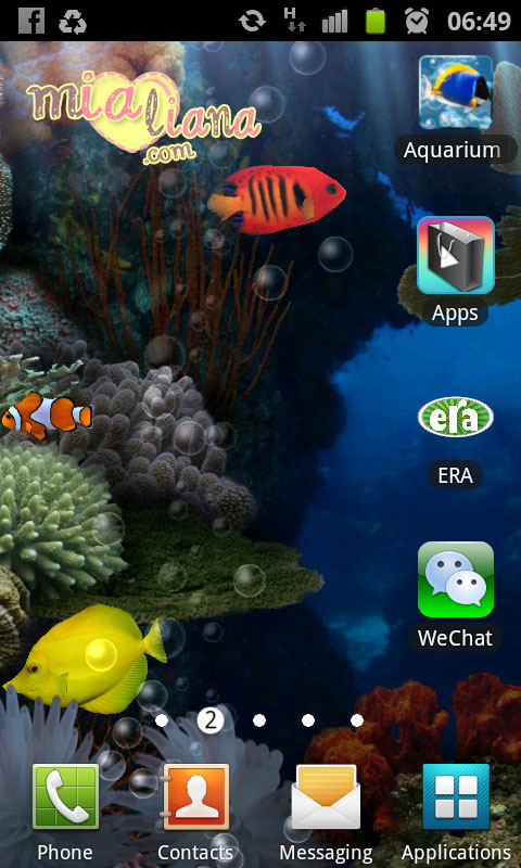 Selepas install, klik pada icon WeChat. Untuk lebih mudah, klik pada ...