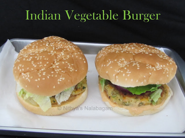 Indian Veg Burger