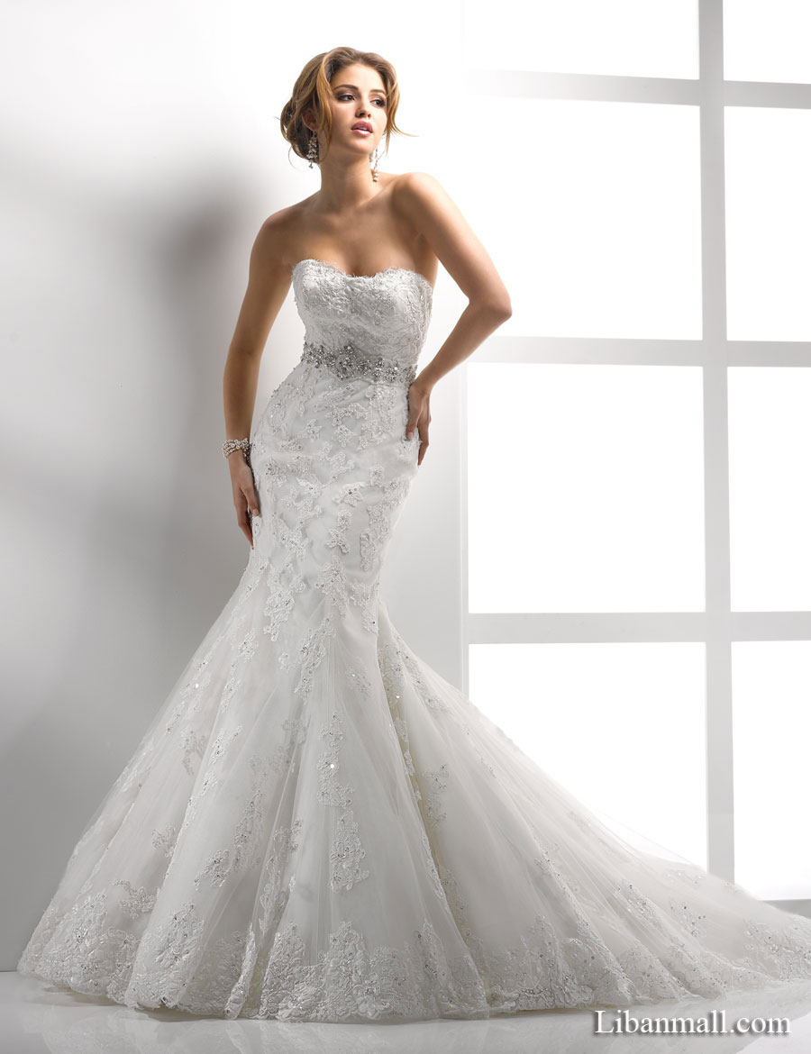 Brilliant Strapless Lace Mermaid Wedding Dress 900 x 1170 · 100 kB · jpeg