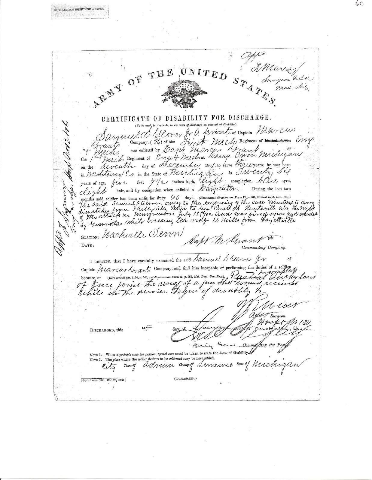 Certificate Of Disability Military Monday
