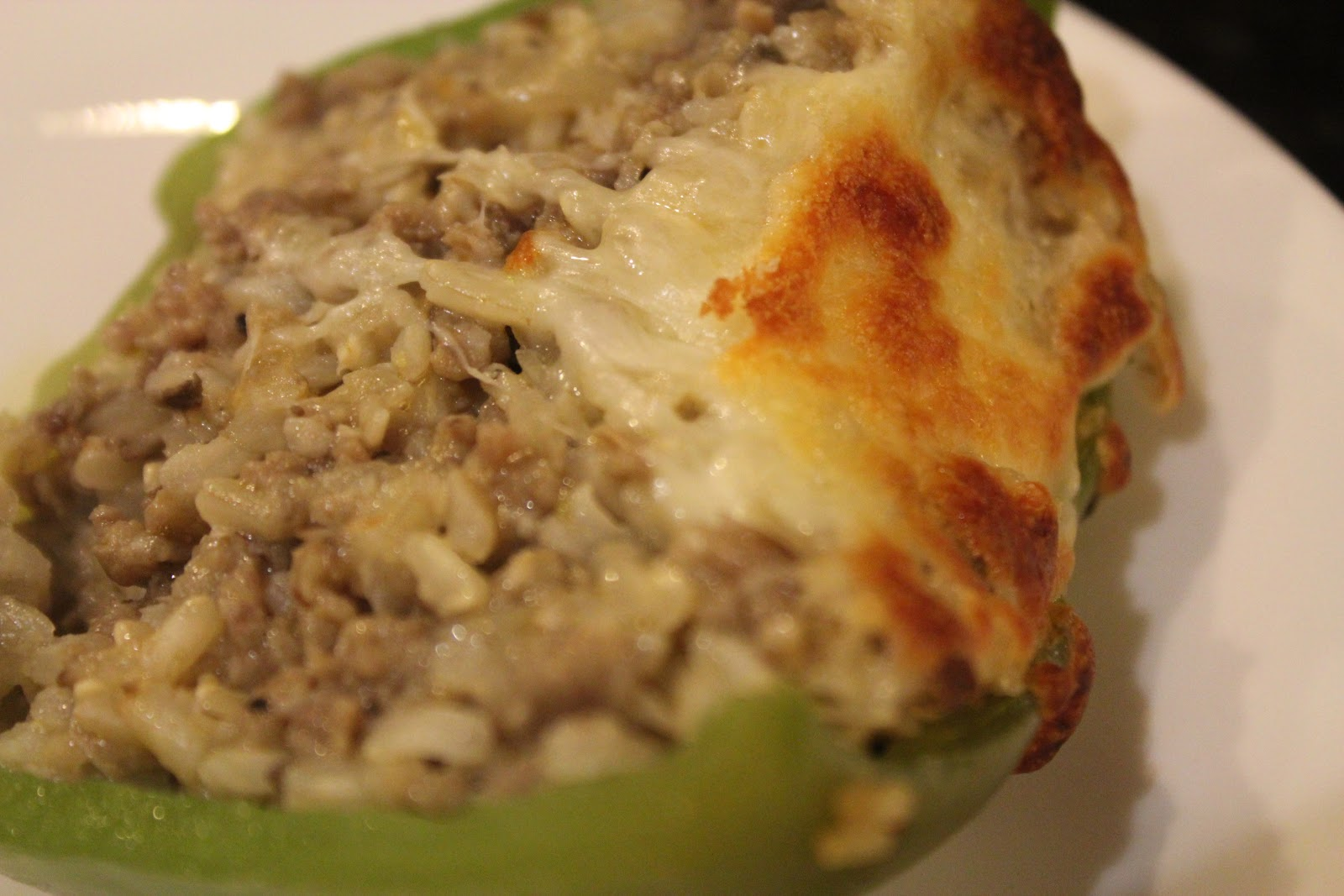 Sausage Stuffed Green Peppers