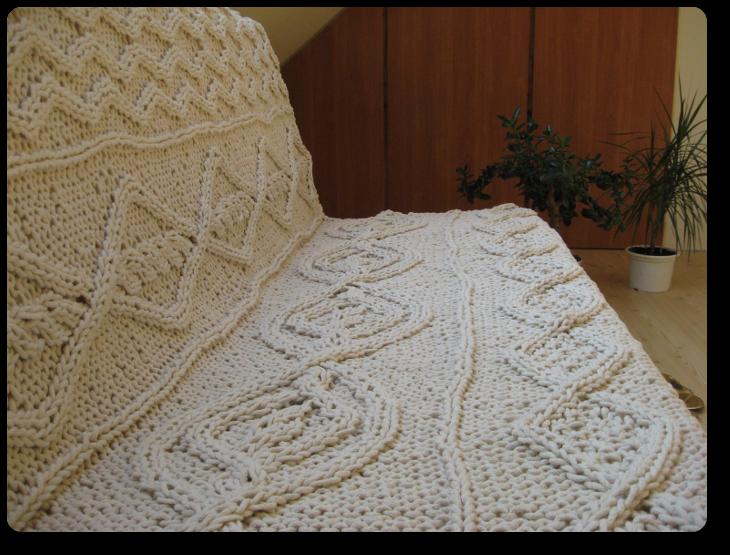 Latające Dywany Warkoczowa Dywano Narzuta