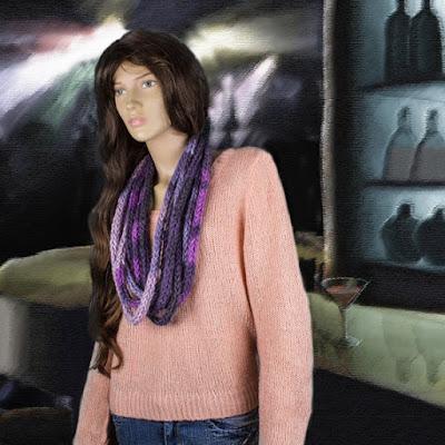 gunadesign guna andersone chunky bulky yarn purple scraf