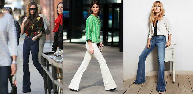 ictoria Beckham and Kate Moss in flared jeans featured on Addictions of a fashion junkie