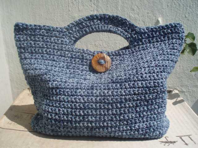 La ventana azul 52 bolso de verano a crochet - Bolsos tejidos a ganchillo ...