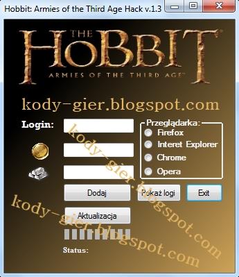 kody do Hobbit: Armies of the Third Age