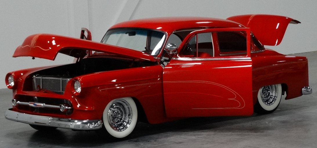 1950 to 1959 classic chevrolet cars and trucks 1953 for 1955 chevy 4 door to 2 door conversion