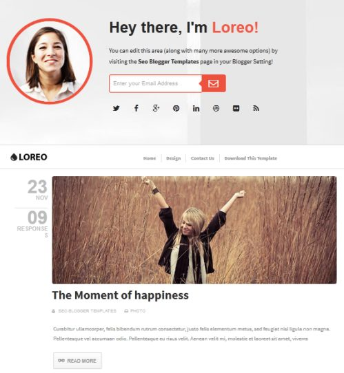 Template Blog Loreo - SEO friendly dan Responsive Design