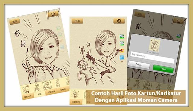 Moman Camera, Aplikasi Edit Foto Jadi Kartun atau Karikatur