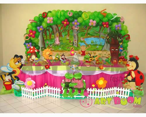 decoracao de mesa tema jardim encantado : decoracao de mesa tema jardim encantado: linda representação de Jardim para decorar nossa festa de Ibejada