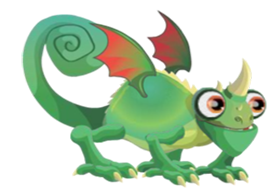 imagen del dragon camaleon adulto
