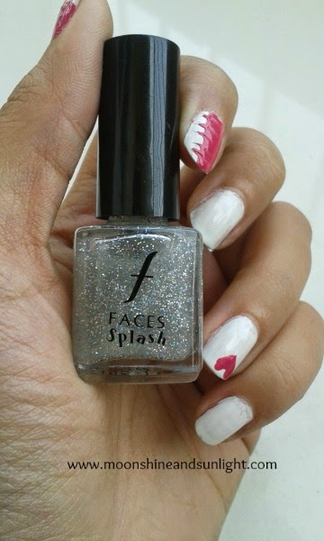 Faces splash nail polish in Sparkles (holographic glitter) review and swatches