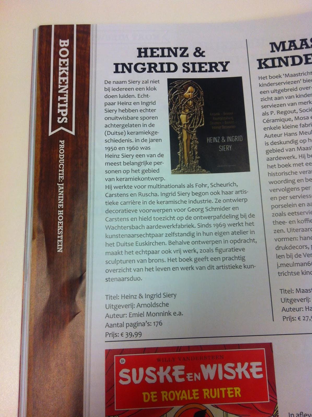 artikel over boek Heinz en Ingrid Siery