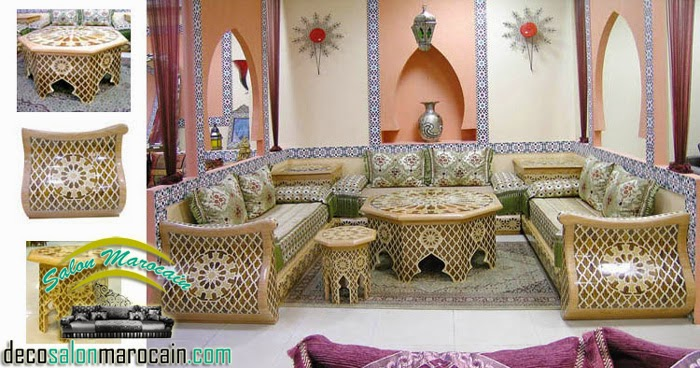 Boutique salon marocain 2016 2017 salon marocain traditionnel - Salon beldi marocain decoration ...