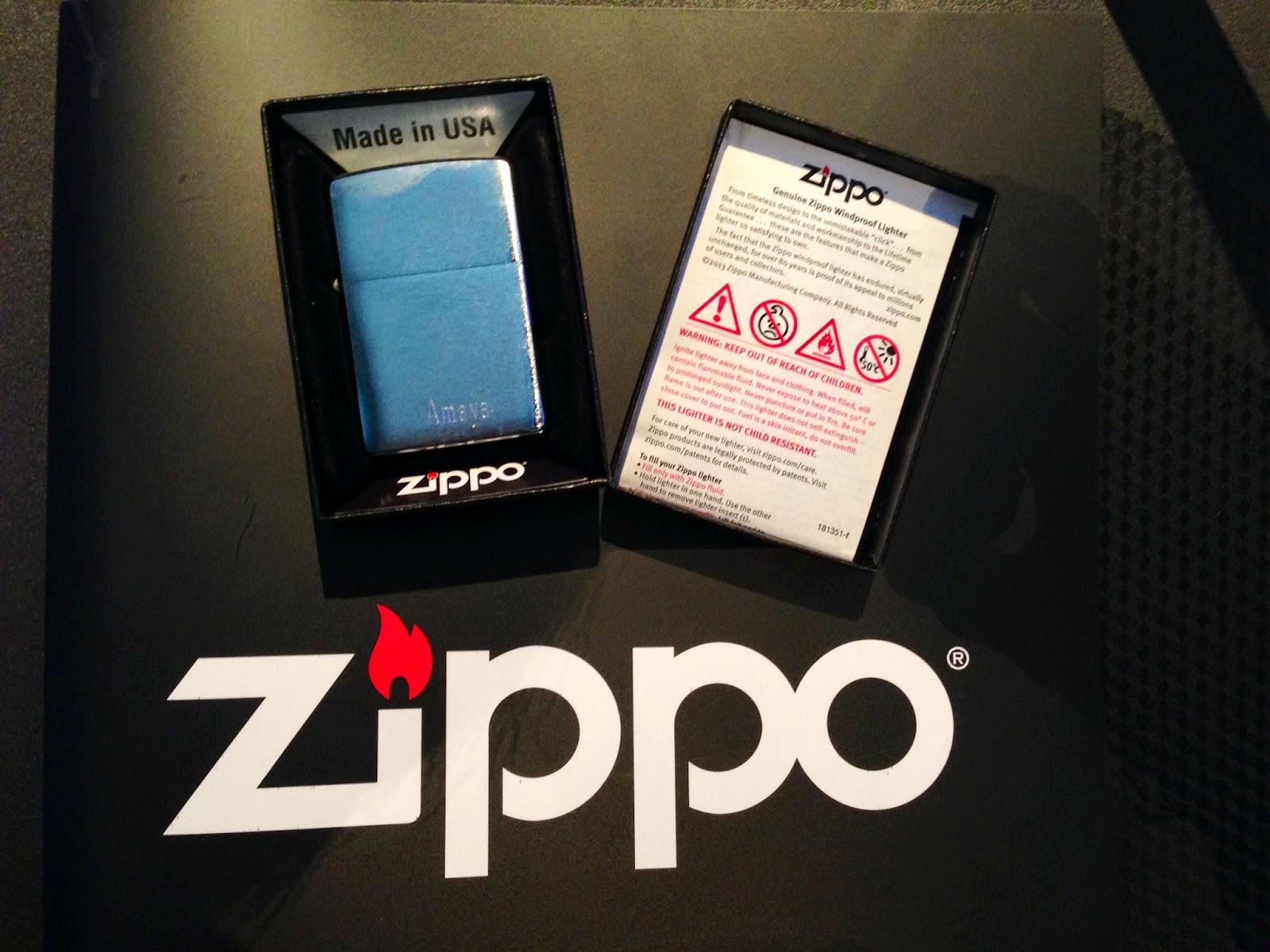 Zippo personalizado para la prensa que asistió a la presentación en Madrid