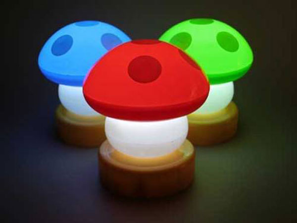 lampu dengan bentuk jamur lampu unik dengan pilihan warna