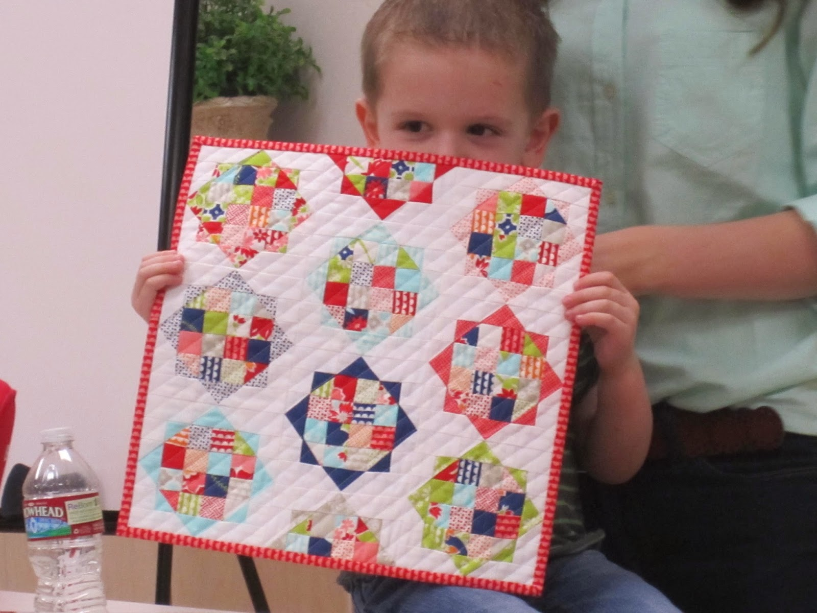 camille roskelley's rise and shine mini quilt