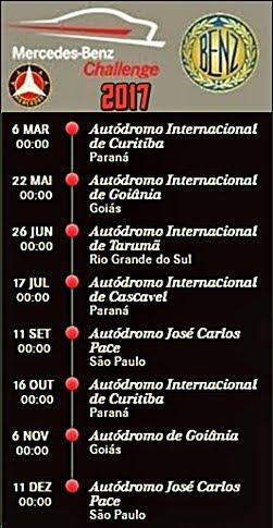 Mercedes Challenge Calendário
