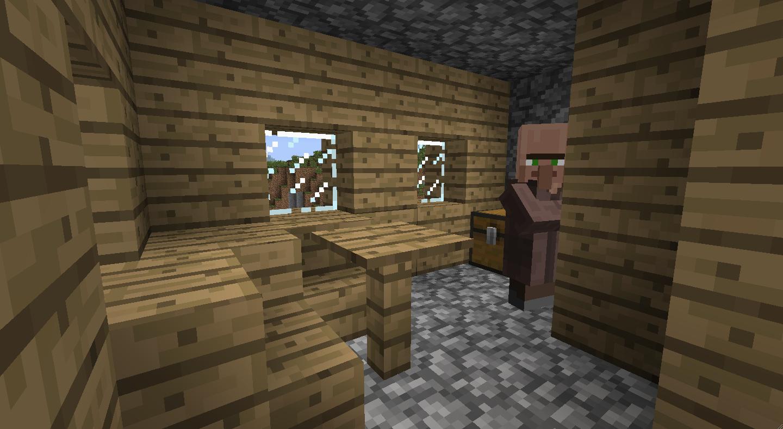Minecraft blacksmith inside