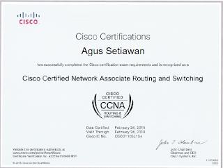 Contoh Sertifikat CCNA Cisco 2015