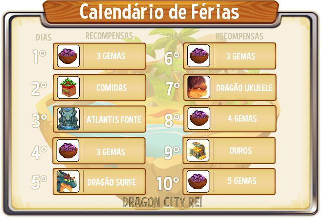 Calend rio de f rias dragon city rei for Calendario ferias