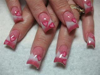 Slike noktiju - srca,love 003
