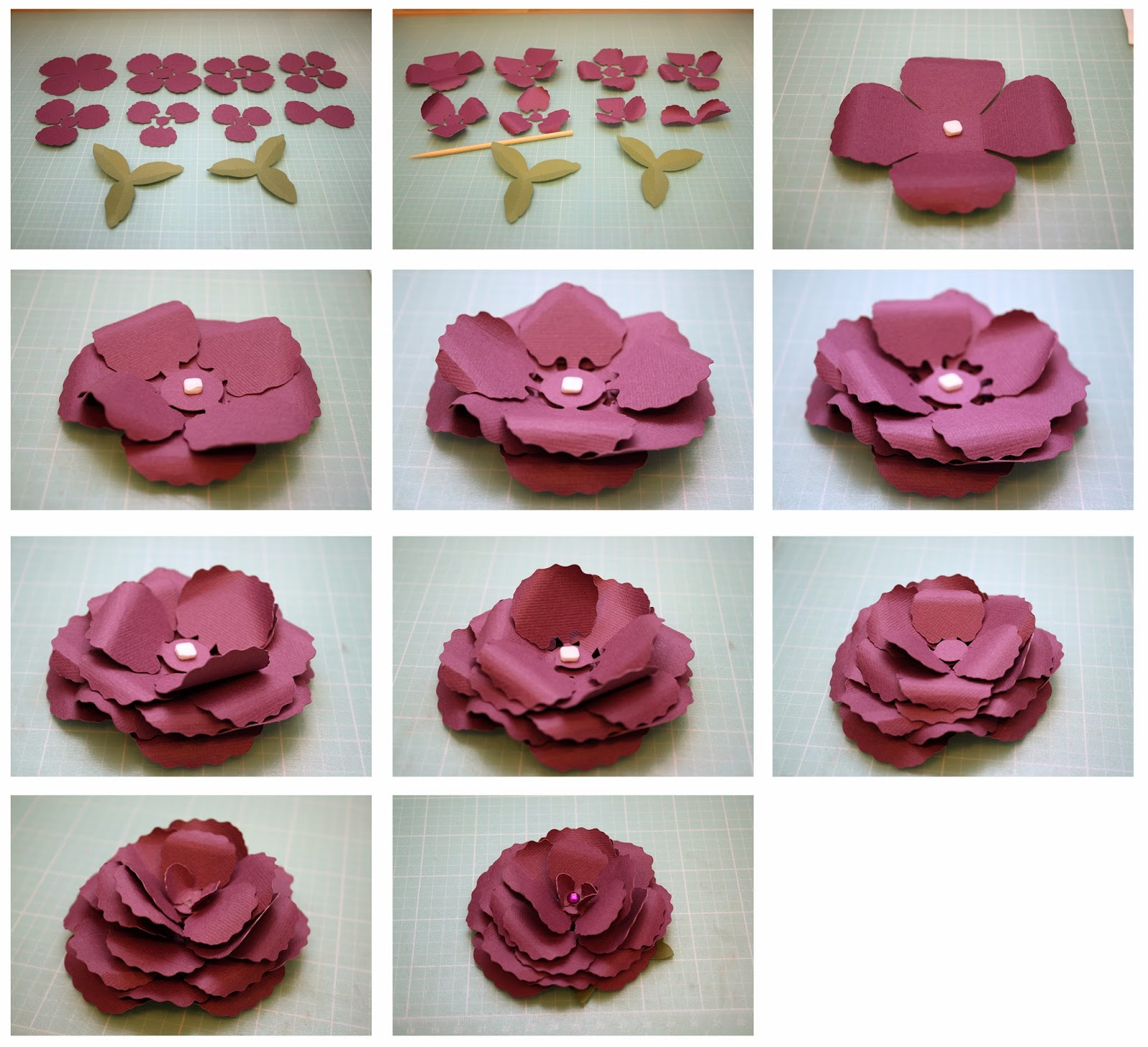 Bits Of Paper Begonia And Gardenia 3d Paper Flowers