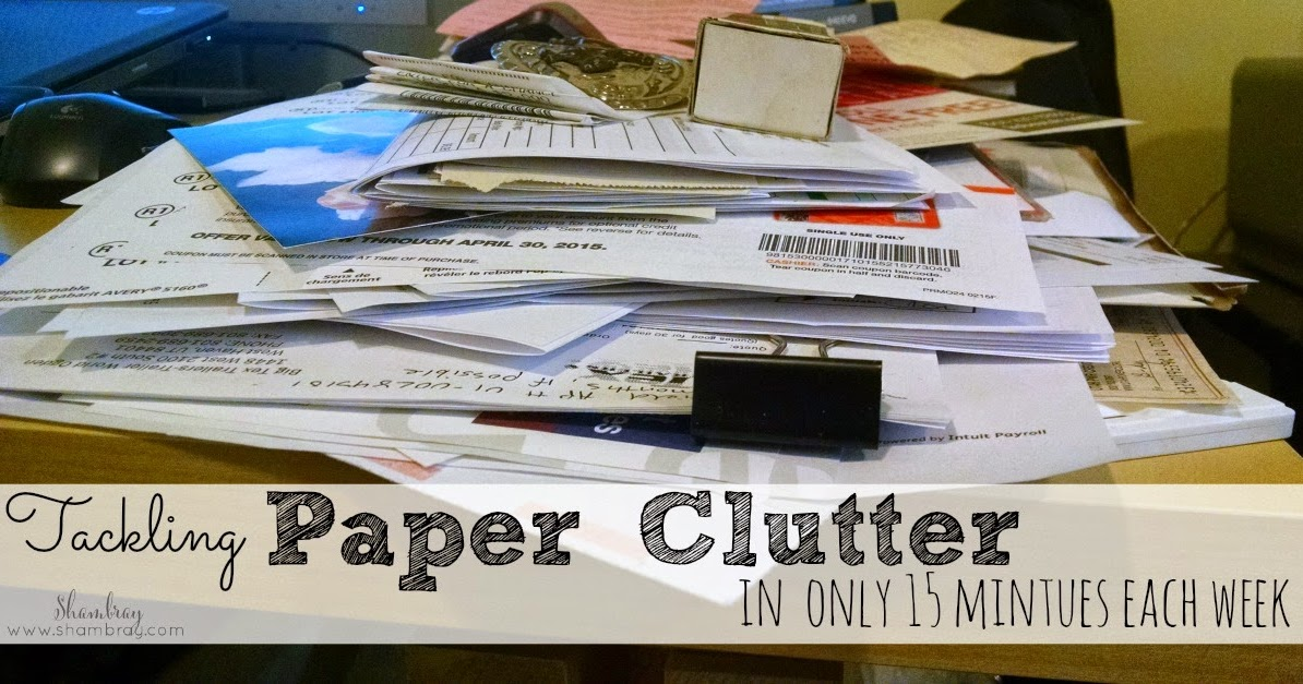 paper clutter Do you want to get rid of those paperwork piles and declutter those paper mountains in your home are you sick of paperwork mounting up around you here's an amazing list of some simple but really effective tips and tricks of ways to reduce paper clutter in your home once and for all (you may be surprised at some.