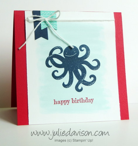 Stampin' Up! Sea Street Card with AquaPainter Background