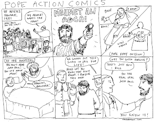 pope action comic