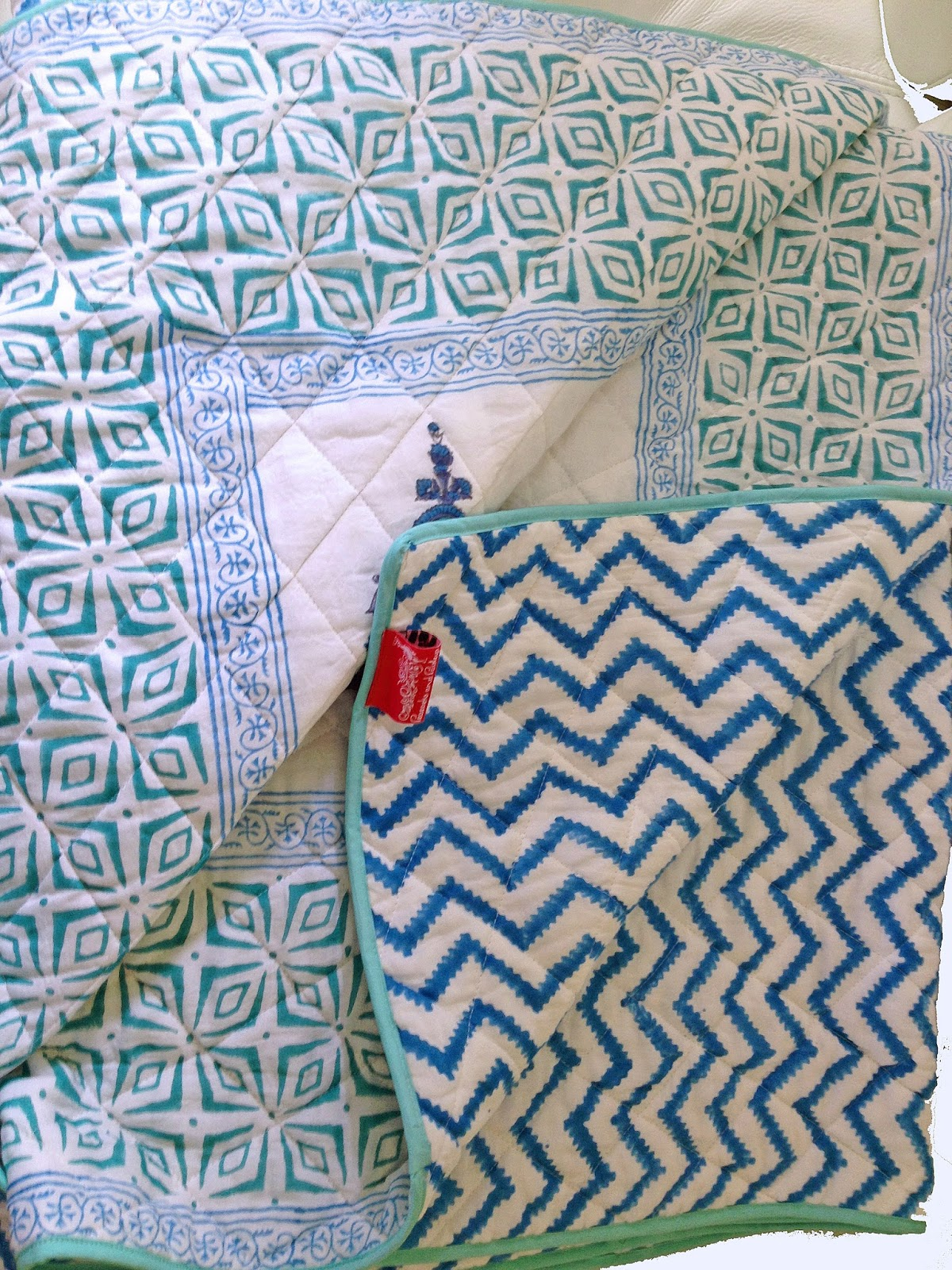 To recreate these looks for your guest room browse Indian Quilts and  title=