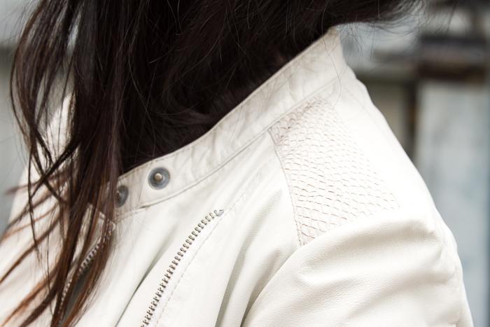 Chaqueta de cuero Syrma color blanco Muubaa