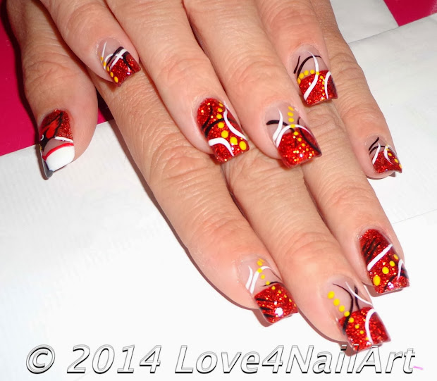 love4nailart arizona cardinal