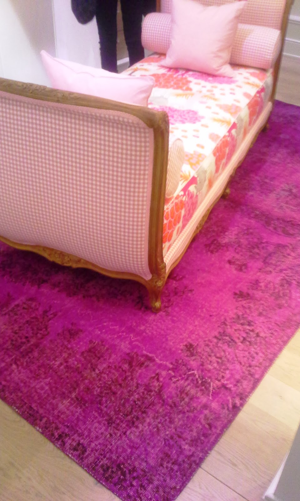 Ikea Purple Persian Rug at The Interior Design Show in Toronto, fashion, interior design blogger style Melanie.Ps The Purple Scarf