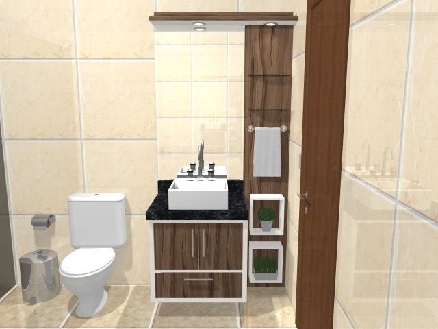Vitality Móveis Planejados Banheiro Social -> Banheiro Planejado Social