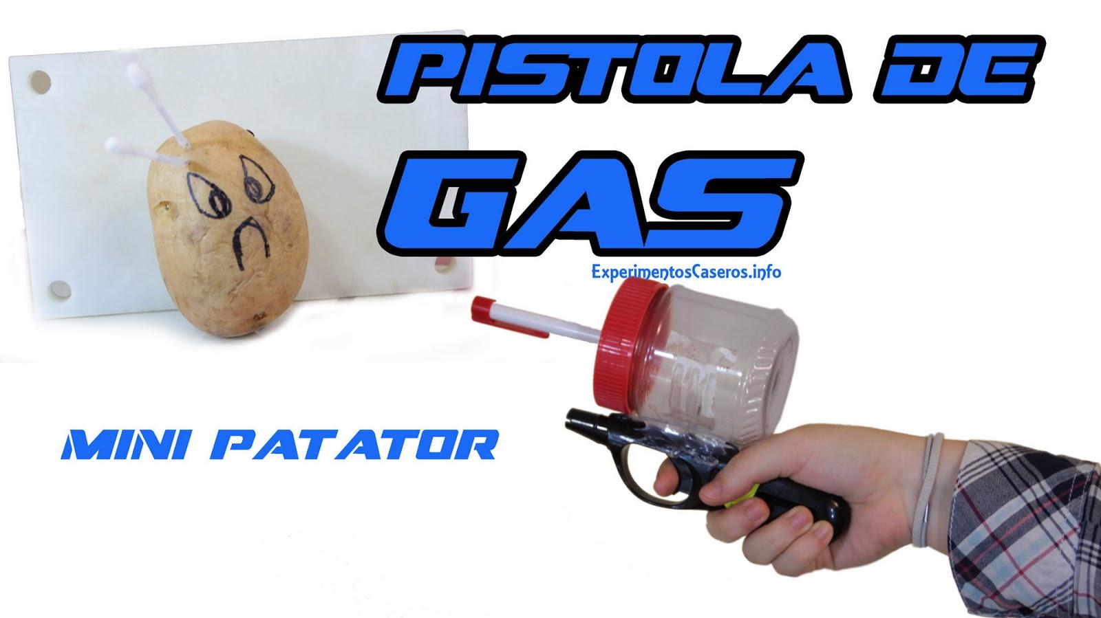 Pistola de gas casero, Minipotator, Minipatatof, Armas caseras, experimentos caseros